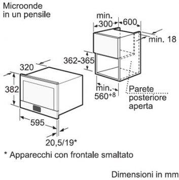 Bosch HMT 85ML53 - Microonde - Incasso