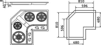 Franke Design Plus Dpal 3gav Tc Piani Cottura A Gas