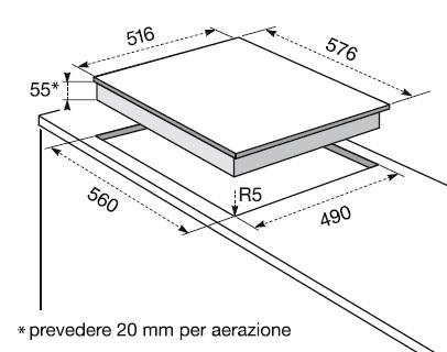 Electrolux kti 6500 be piani cottura elettrici for Piccoli piani a 2 piani