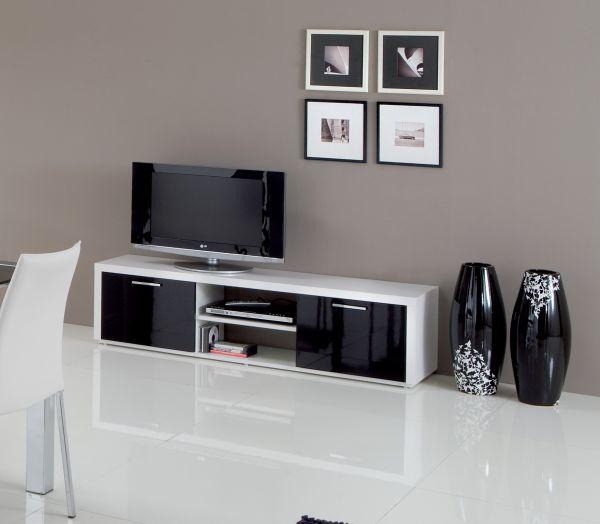 Mobile porta tv party 2ante bianco nero porta tv - Porta tv nero ...