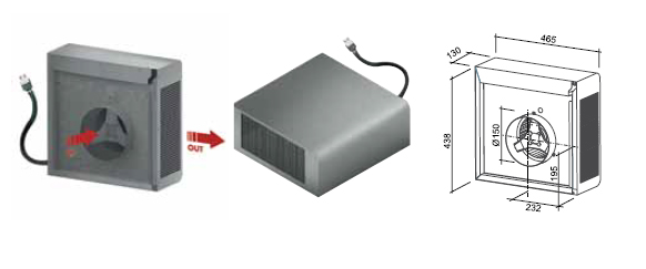 Falmec aspiratore esterno accessori cappa - Aspiratore bagno senza uscita esterna ...