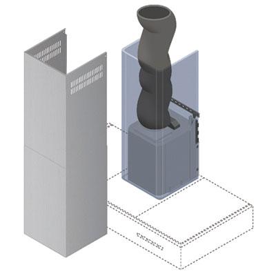 Falmec silent system accessori cappa - Tubi per aspirazione cappa cucina ...