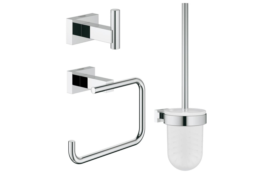 grohe essentials cube new set accessori bagno 40757001