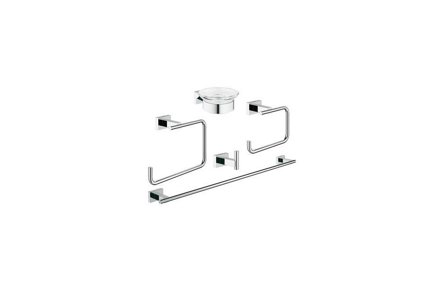 Grohe essentials cube new set accessori bagno 40758001 accessori bagno - Accessori bagno grohe ...