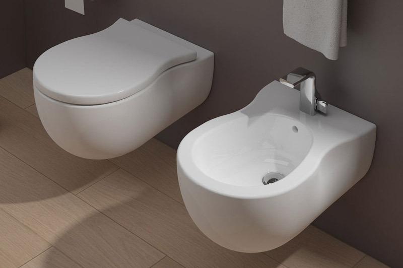 Flaminia set pinch ph118g ph218 sistema goclean set - Set sanitari bagno ...