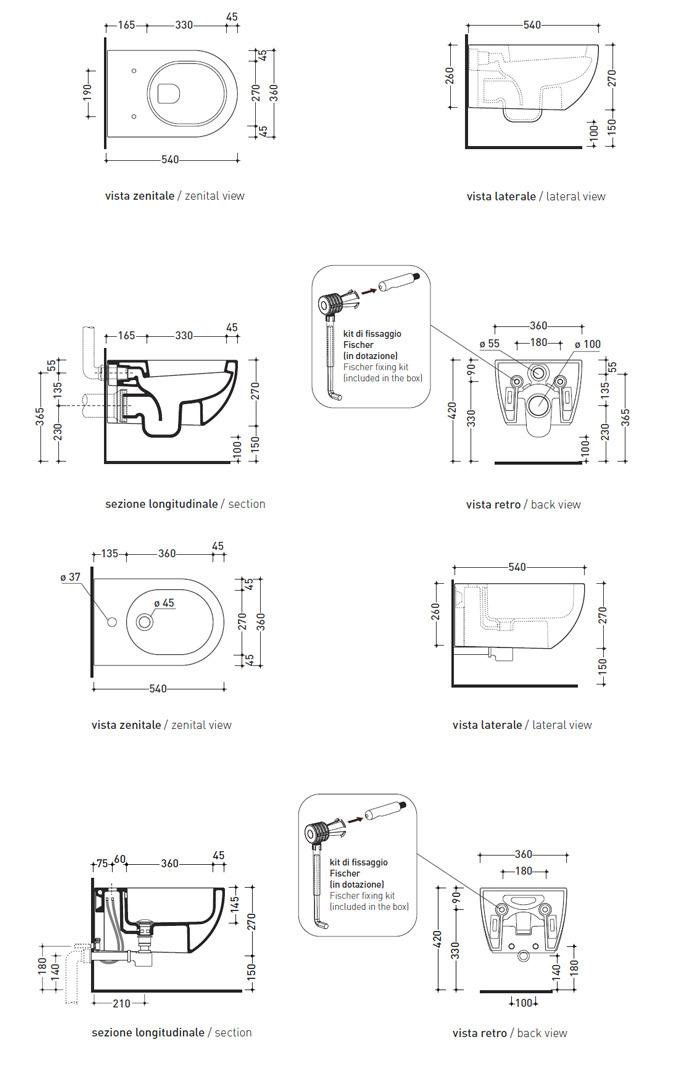 Ceramica Flaminia Schede Tecniche.Flaminia Set App Ap118 Ap218