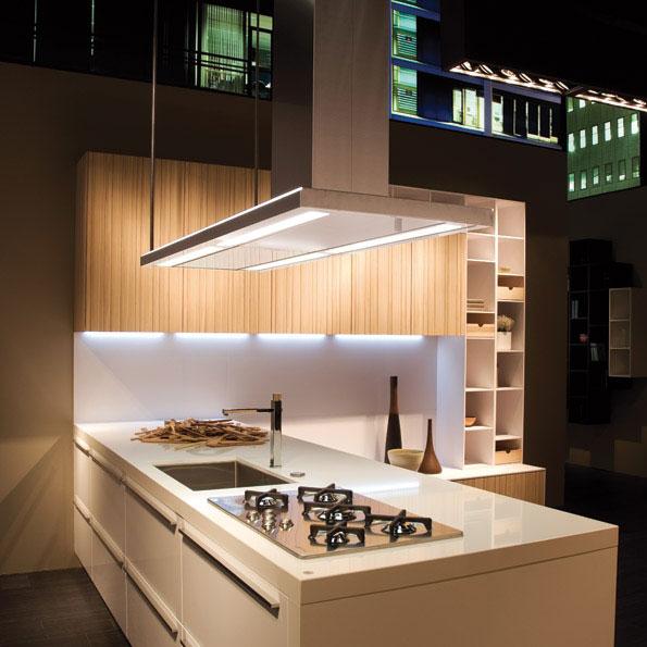 Falmec design lumen isola 175 cm cappa a isola - Cappa cucina isola ...