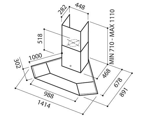 Elica Synthesis IX A 100 - Cappe a Parete 8964b1585f8a