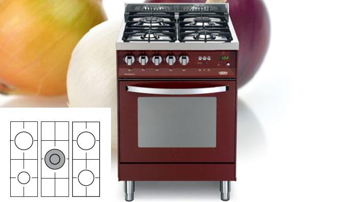 Lofra pr76gvt c rosso burgundy cucina - Offerte cucine a gas ...