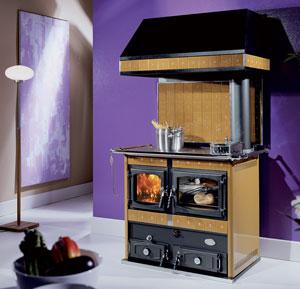 Anselmo cola termo johanna ottone miele sx termostufe a - Termostufe a legna con forno ...
