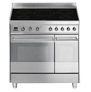 bartscher cucina elettrica vetroceramica 5 fuochi forno