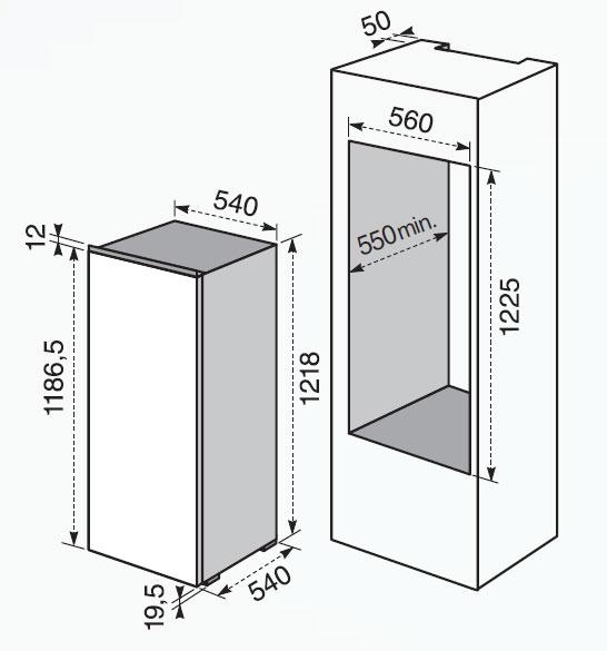 Electrolux fi 2590 a frigoriferi incasso - Frigoriferi monoporta senza congelatore ...