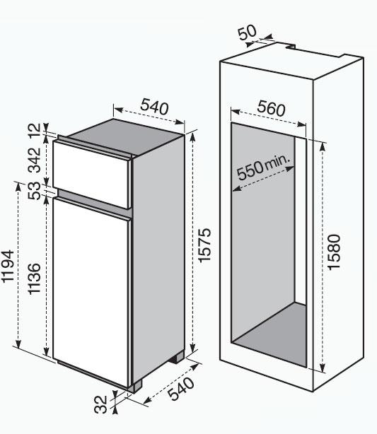Electrolux FI 290/2 TA - Frigoriferi - Incasso