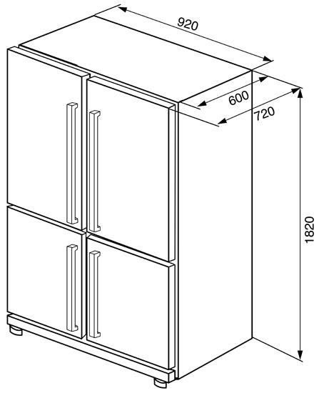Le migliori immagini dimensioni frigorifero - Migliori conoscenze ...