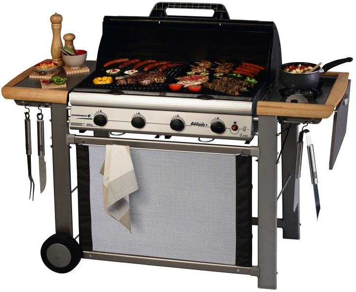 campingaz adelaide 4 classic l deluxe barbecue a gas. Black Bedroom Furniture Sets. Home Design Ideas