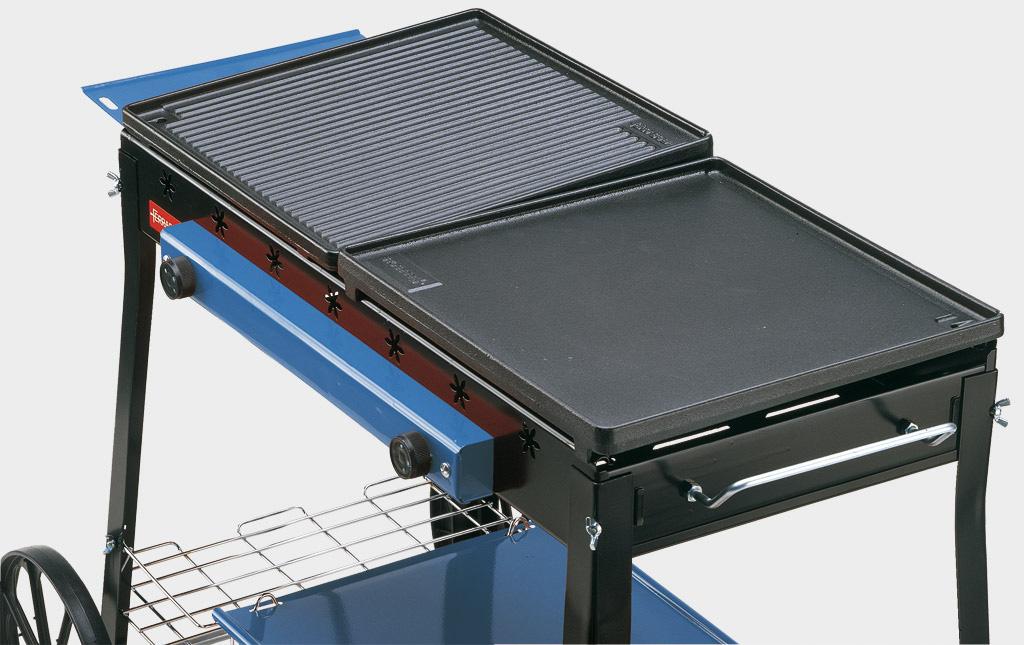 Ferraboli ghisa gas stereo barbecue a gas - Cucinare con la pietra lavica ...