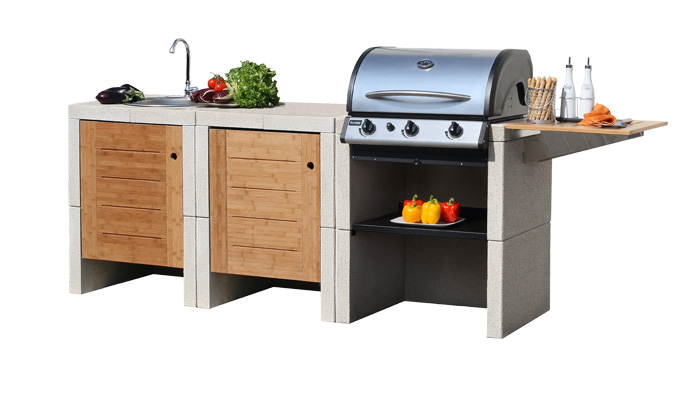 Sunday melody 3 grill cucine da esterno - Cucina da giardino ...