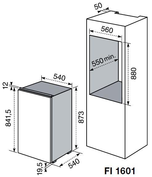 Electrolux fi1601 frigoriferi incasso - Frigoriferi da incasso misure ...