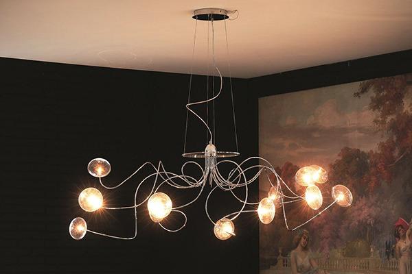 Cattelan italia oktopus lampada a sospensione - Lampadari per camera da letto moderna ...