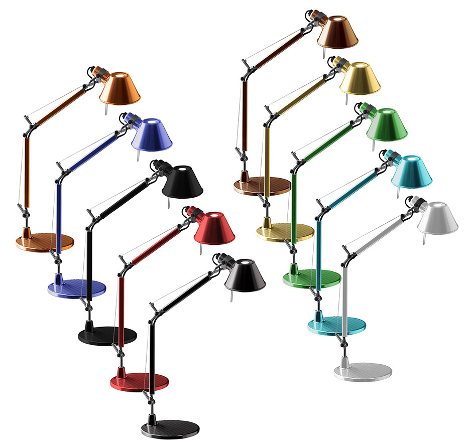 artemide tolomeo micro tavolo a01 micro lampada da tavolo. Black Bedroom Furniture Sets. Home Design Ideas