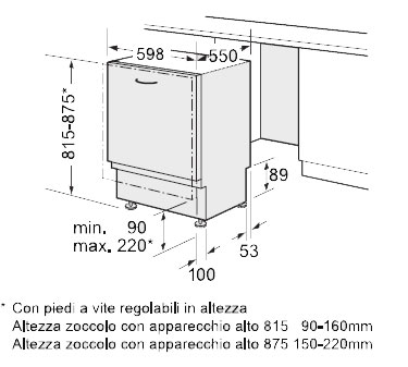 Istruzioni Montaggio Lavastoviglie Bosch Piccoli