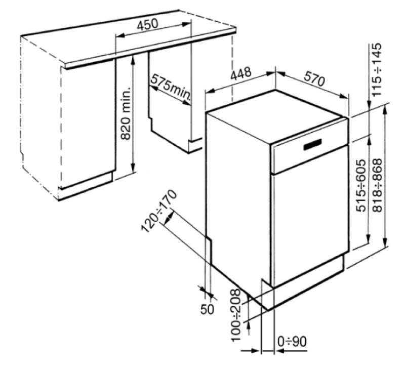 Smeg PLA4513X - Lavastoviglie - Incasso