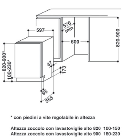 Mobili da cucina di grandi dimensioni: Lavastoviglie whirlpool wp 108