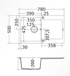franke maris mrg 611 vari colori lavelli sintetici. Black Bedroom Furniture Sets. Home Design Ideas