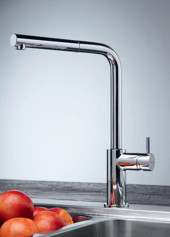 Franke Neptune Style Doccia Cromato 0738216 - Miscelatore cucina