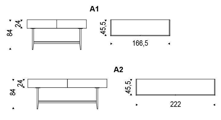 credenza moderna due cassetti horizon cattelan: vetrine moderne ... - Credenza Moderna Due Cassetti Horizon Cattelan