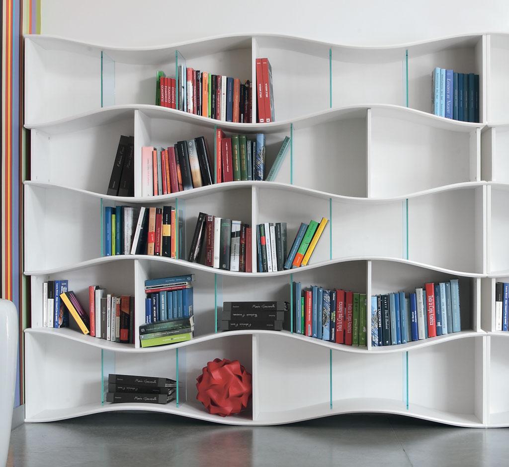 Tonin casa libreria onda composizione a librerie for Libreria casa