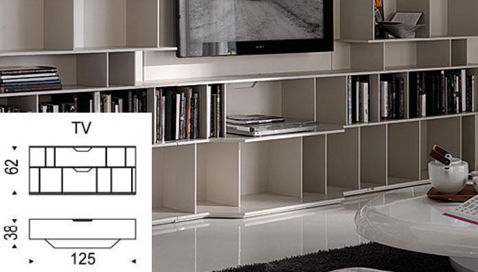 Cattelan Italia Porta tv componibile Wally TV - Librerie