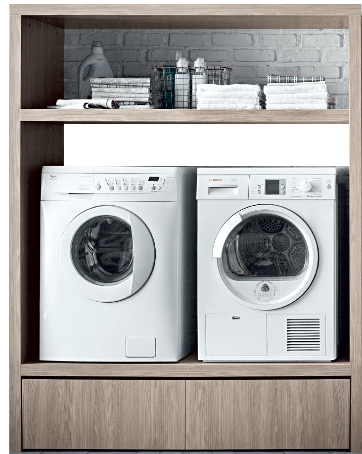 Birex idrobox panca porta lavatrice e asciugatrice for Mobile porta asciugatrice