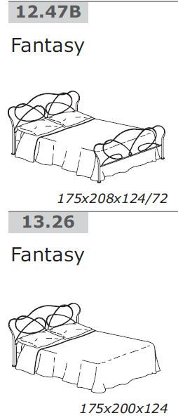 bontempi fantasy - letto matrimoniale - Letto Foglia Argento Fantasy Bontempi