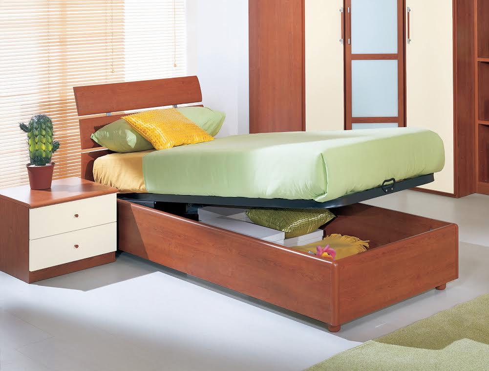 Felver venus singolo contenitore ciliegio letto singolo - Camera da letto in ciliegio ...