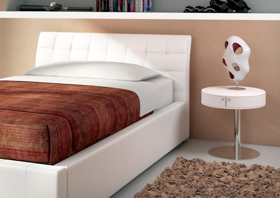 Target point letto chamonix ad una piazza e mezza con contenitore letto a una piazza e mezza - Letto una piazza e mezza con cassetti ...