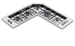Foster Serie Quadra Angolare - 7235 042 - Piani cottura a gas