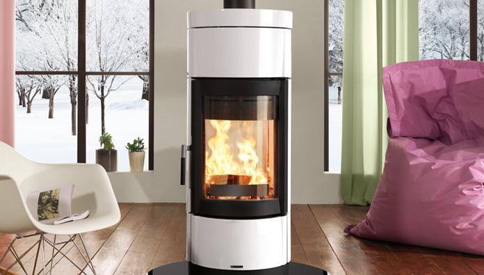 la nordica fortuna bifacciale bianco 7116843 stufa a legna. Black Bedroom Furniture Sets. Home Design Ideas