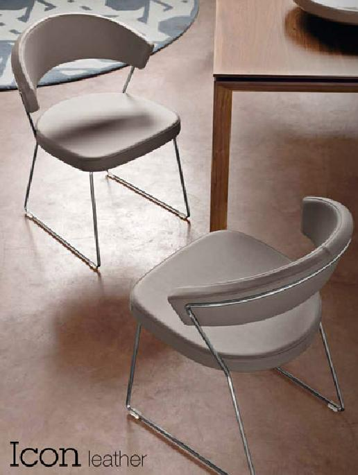 Connubia calligaris new york leather cb 1022 lh sedie for Calligaris sedie