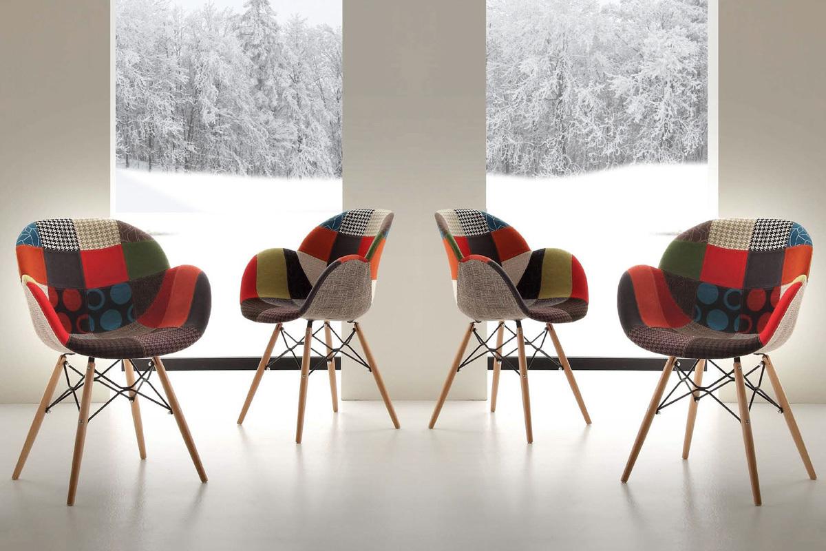 La Seggiola Set di 4 sedie Lotus Patch - Set 4 sedie