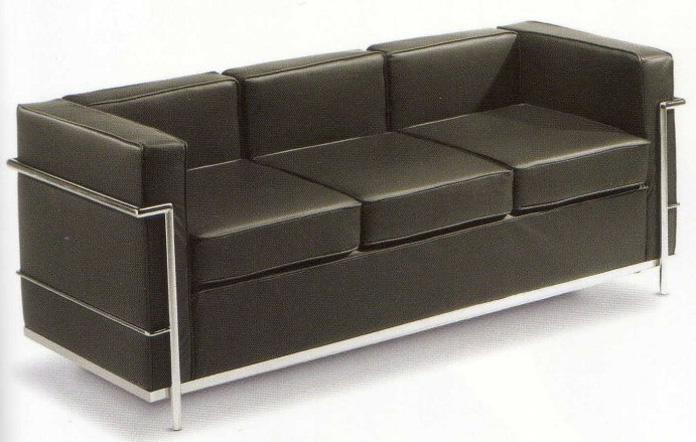 Divano LC2 di Le Corbusier - 3 posti