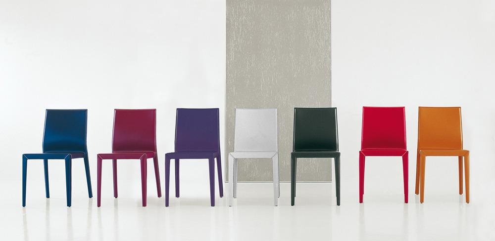 Cattelan italia set di 4 sedie margot set 4 sedie for Sedie bianche ecopelle