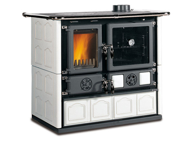 la nordica rosa maiolica bianco stufa a legna. Black Bedroom Furniture Sets. Home Design Ideas
