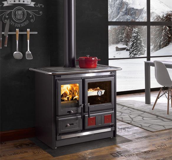 la nordica rosa l 7015185 stufa a legna. Black Bedroom Furniture Sets. Home Design Ideas