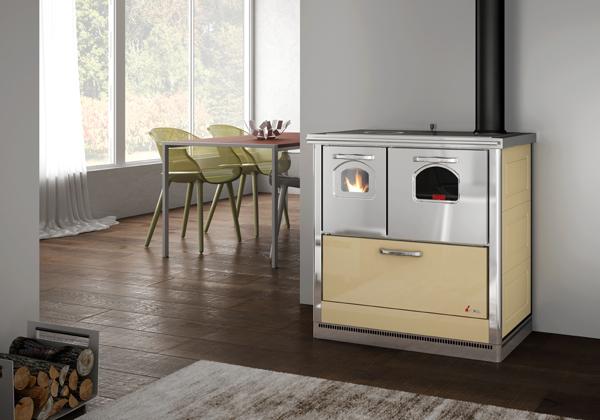 Cadel smart steel scarico fumi superiore dx avorio - Scarico fumi cucina ...