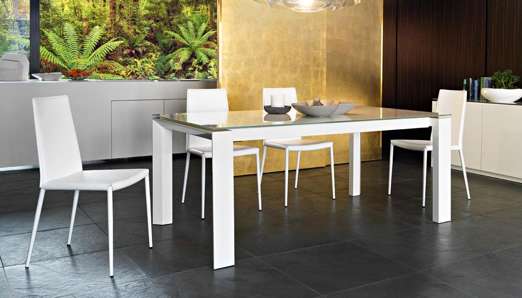 Connubia calligaris omnia glass cb 4058 lv 160 tavolo for Calligaris tavoli allungabili legno