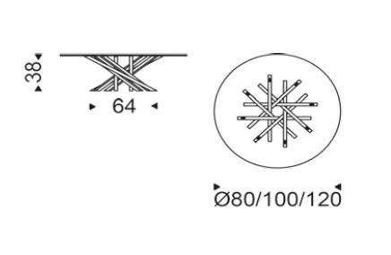 cattelan italia atari - tavolino - Tavolino Design Gambe Legno Atari Cattelan