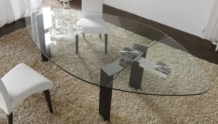 Cattelan italia tavolo allungabile daytona 165x130 tavoli - Tavolo ovale allungabile moderno ...