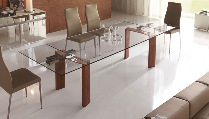Cattelan italia tavolo allungabile daytona 180x90 tavoli for Tavoli di cristallo allungabili