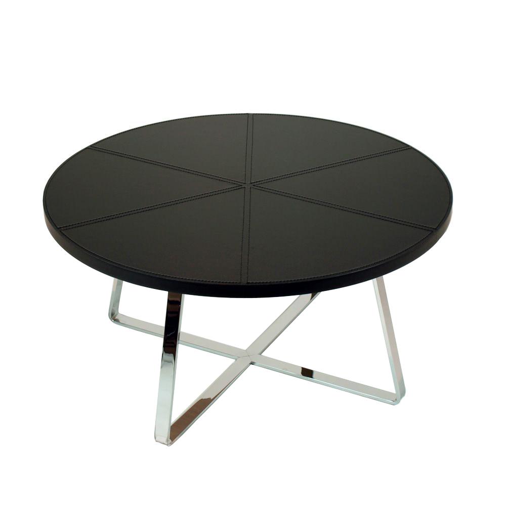 Dj Midj Coffee Table With Round Hide Top Different Sizes: Midj Dj 100 Cm